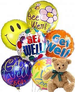 Get Well Balloons Teddy Bear Same Day Gift Delivery Balloon Delivery Get Well Balloons Get Well Soon Gifts Get Well Gift Baskets