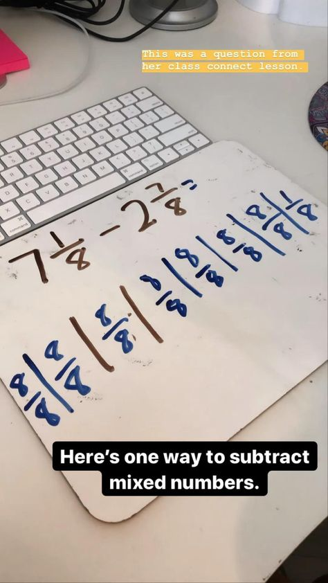 Subtracting mixed numbers 4th grade math