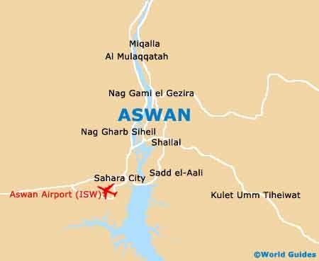 Map of Aswan | Map, Egypt