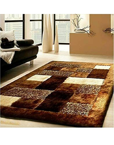 Dtex Multicolor Modern 5d Shaggy Rugs Long Lasting Carpets For