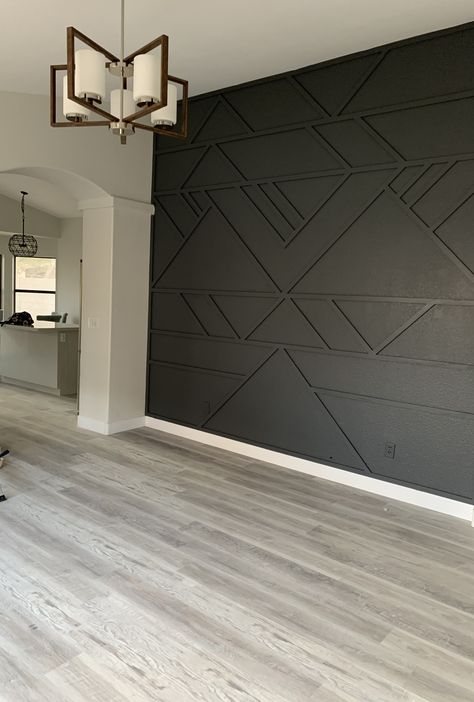 Accent Walls In Living Room, Home Living Room, Living Room Designs, Living Room Decor, Bedroom Decor, Master Bedroom, Interior Walls, Home Interior Design, Accent Wall Designs