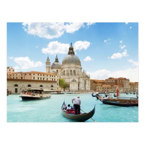 Grand Canal, Venice Postcard #Ad , #Affiliate, #Venice#Postcard#created#Shop