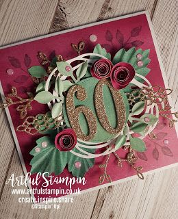 Artful Stampin Uk Independent Stampin Up Demonstrator Ruth Trice Luxury 60th Birthday 60th Birthday Cards Stampin Up Birthday Cards 80th Birthday Cards