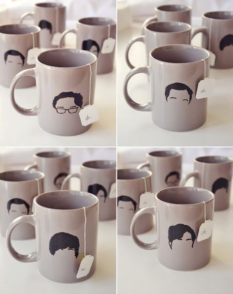 DIY Big Bang Theory mugs