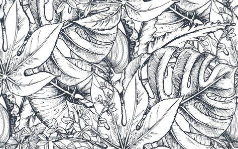 Patrón transparente de vector con composiciones de mano dibujado ...