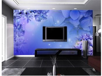 Customize Size High Quickly HD Mural 3d Wallpaper Wall Paper Purple Flower  Papel De Parede Wholesale Part 91