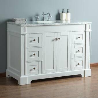Single Bathroom Vanity Wayfair, Bathroom Vanities Wayfair