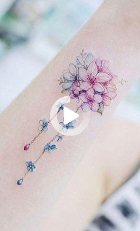 Mazzo Di Fiori Tatuaggio.Carino Acquerello Mazzo Di Fiori Braccio Tatuaggio Idee Per Le