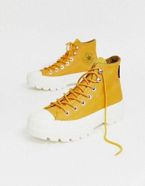 Converse Yellow Leather Goretex Hiker