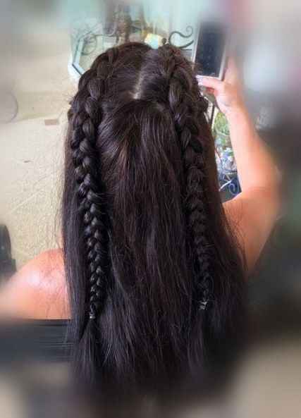 Braids Pigtail Half Up Half Down 60 Ideas Two Braid Hairstyles Braided Hairstyles Dutch Pigtail Braids