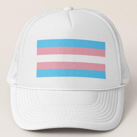 8bbed23d9 Transgender Pride Flag - LGBT Trans Rainbow Trucker Hat   Zazzle.com ...