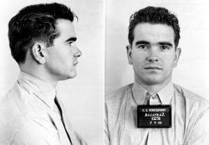 Alcatraz Inmate Richard Barchard, 1251-AZ Ferry McDowell with man