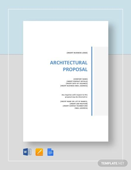 Architectural Proposal Template Free Pdf Word Apple Pages Google Docs Proposal Templates Proposal Templates