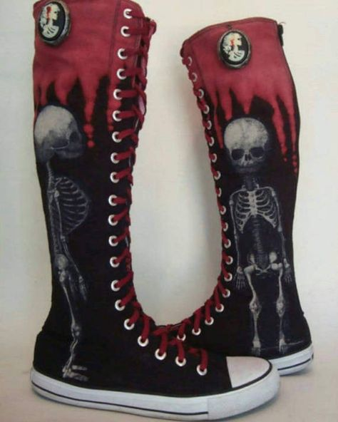Check out this item in my Etsy shop https://www.etsy.com/listing/453093606/baby-fetal-skeleton-boots-with-dripping