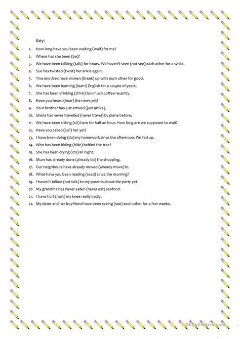 Present Perfect Simple Or Present Perfect Continuous