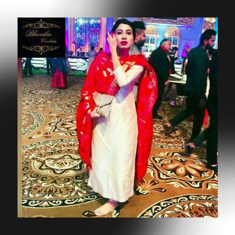 This stunner made complete justice to this royal silk suit with pure Banarsi dupatta 😍😍😍😍  #BHAVIKACOUTURE #handloom #kota #womenofindia #handwoven BY #BHAVIKA ALL THIS WEDDING SEASON… #Suits #Gown #partywear #stitchingdress #freesizedress #designerwear,#BHAVIKACOUTURE, #couture #fashion #partywear #women #girls #fashionwear #designbybhavika #2019  #newyear #fashion