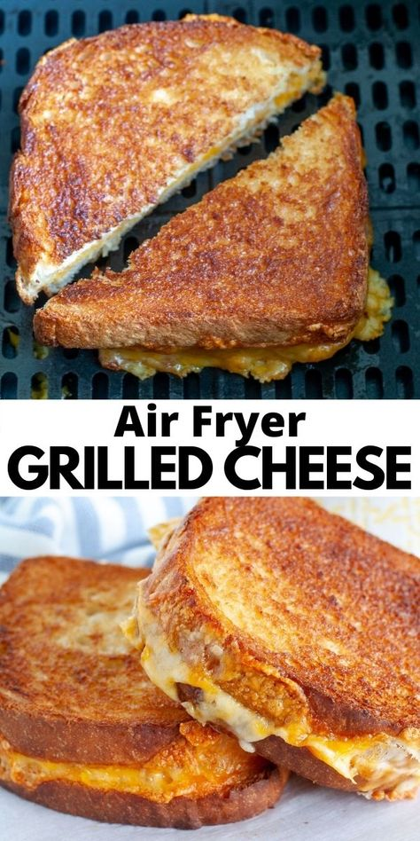 Air Fryer Recipes Grilled Cheese, Air Fryer Recipes Appetizers, Air Fryer Oven Recipes, Air Frier Recipes, Air Fryer Dinner Recipes, Snack Recipes, Cooking Recipes, Kitchen Recipes, Air Fryer Cooking Times