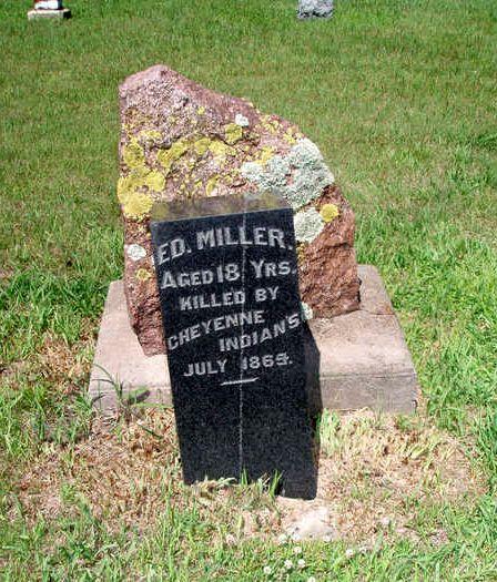 Ed Miller Killed By Indians Jones Cemetery Kansas Santa Fe Trail Kansas Marion County
