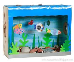 22 Super Fun Craft Box Ideas To Do With Your Kids Aquarium Craft