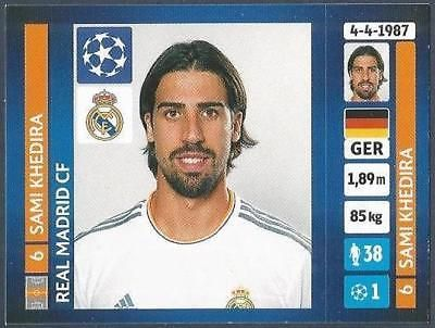Panini Uefa Champions League 2013 14 095 Real Madrid Sami Khedira Champions League Uefa Champions League Real Madrid