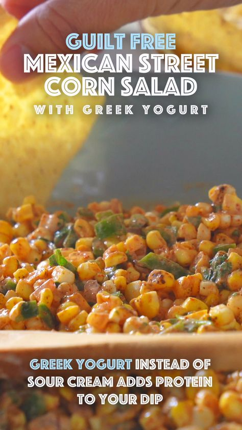 Greek yogurt instead of sour cream adds protein to your tailgate dip!