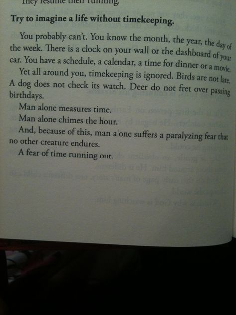 """Mitch Albom- """"The Time Keeper"""" This may be my favorite part in the entire book. It is so incredibly true."""