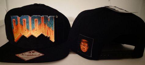 4e324e23e4f Doom Logo Bethesda Video Game Snap Back Black Hat Nwt  Doom  BaseballCap