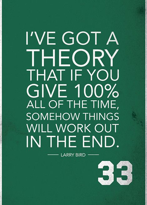 ''Larry Bird Quote on Print. See more at www.finesportsprints.com #bird #sportsquote #celtics''