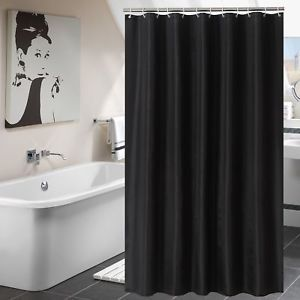 Details About Shower Curtain Hookless Fabric Curtains Mildew