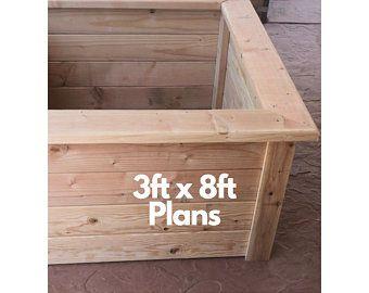 Downloadable Woodworking Plans Cedar Raised Garden Planter Etsy In 2020 Downloadable Woodworking Plans Garden