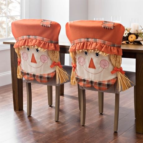 Groovy Product Details Girl Scarecrow Chair Covers Set Of 2 In Gmtry Best Dining Table And Chair Ideas Images Gmtryco