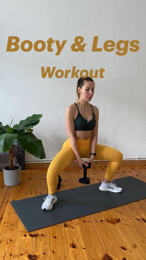 Workout für Po und Beine mit und ohne Gewicht für zu Hause