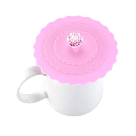 Cute Silicone Cover Cup Lid Mug Suction Seal Cap Anti Dust Airtight Cup Cover