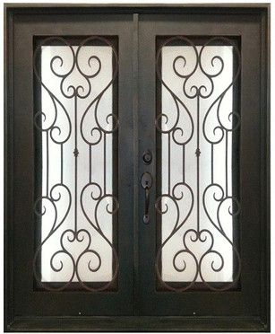 61 5 X 81 Oper Able Tempered Dual Pan Glasses Noble Wrought Iron Entry Doors Wrought Iron Entry Doors Iron Entry Doors Entry Doors