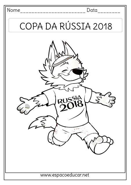 Desenhos Do Zabivaka O Lobo Mascote Da Copa Da Russia 2018 Para