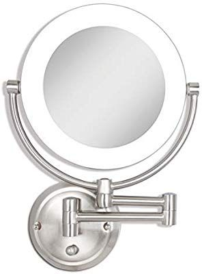 Zadro Dual Sided Surround Light Swivel Wall Mount Make Up Mirror With 1x 10x Magnification Hardwire With Images Wall Mounted Makeup Mirror Makeup Mirror Makeup Mirrors