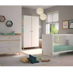 Chambre Bebe Ange Blanc Et Bois 70x140 Cm Opt Sans Kit Evolutif