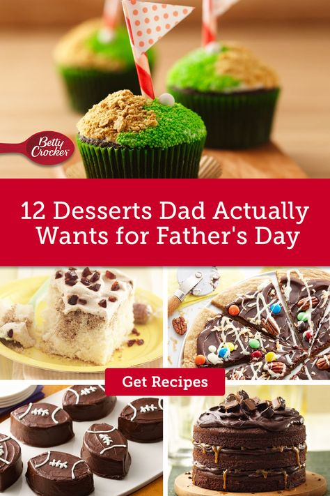 Our 12 Desserts Dad Actually Wants recipe collection features summer dessert ideas the kids can help with. Pin now for a Father's Day ready dessert.