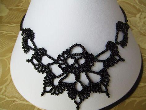 collier perle rocaille crochet