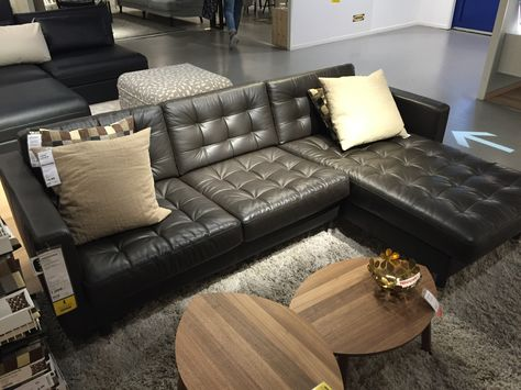 Leather  IKEA Karlstad - I like the floor color and he couch and - design armsessel schlafcouch flop