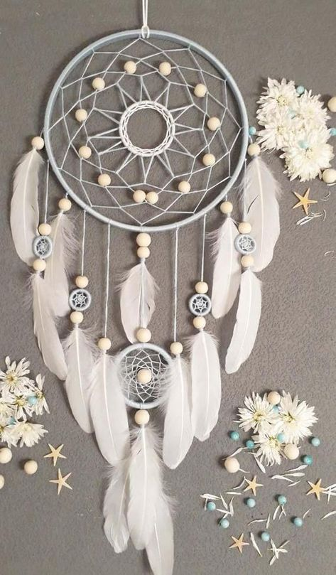 ==== ITEM DETAILS ==== ★SIZE Dream catcher★ - diameter large ring: 10 ......... ( 26 cm ) height:~~~~~~~~~~~~~~~~ 26 ......... ( 65 cm ) ★MATERIAL dream catcher★ - cotton thread - beads - white feathers - wooden frame ~~~~~~~~~~~~~~~~~~~~~~~~~~~~~~~~~~~~~~~~~~~ This Dream catcher is made by