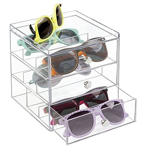 c711e7e67176 Quality glasses storage box 12 grid deerskin sunglasses display box Sunglass  Organizer Box Eyewear Storage Usage 12 Compartment