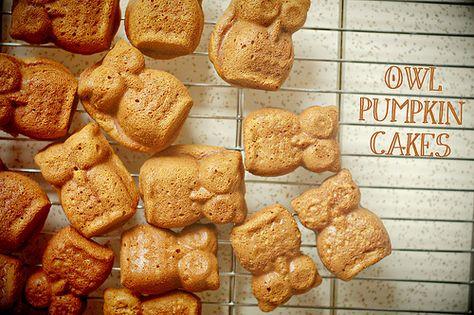 Owl Pumpkin Cakes- make with my sugar free recipe