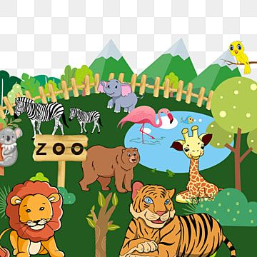 Zoo Lion Tiger Red Crowned Crane Animal Zoo Clipart Zebra Birdie Png Transparent Clipart Image And Psd File For Free Download Zoo Clipart Animal Clipart Zoo