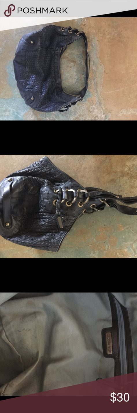 Isabella finite purse Black leather purse by Isabella Fiore.  Exterior of purse is in great shape, interior is soiled from normal use.  Purse still has lots of life Isabella Fiore Bags Shoulder Bags