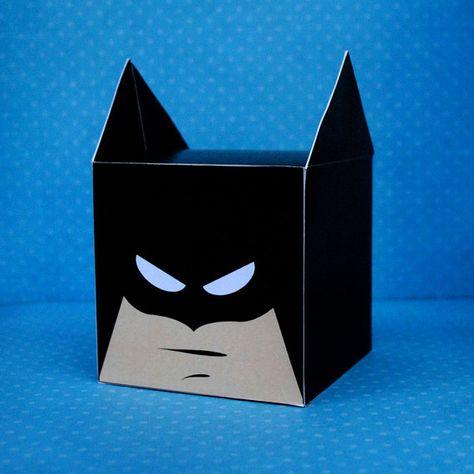 DIY Printable Bat Superhero Cupcake Holder Box by CupcakeFashion,