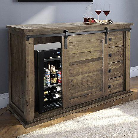 Wine Enthusiast Mesa Sliding Barn Door Cabinet