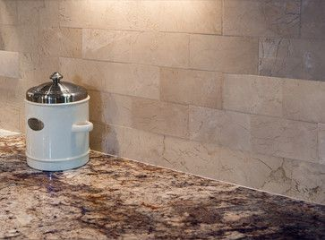 These Crema Marfil 3x6 tiles from the Spicewood Collection make a