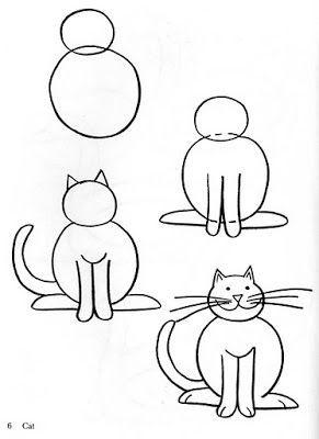 Pin Auf Gatos Dibujos