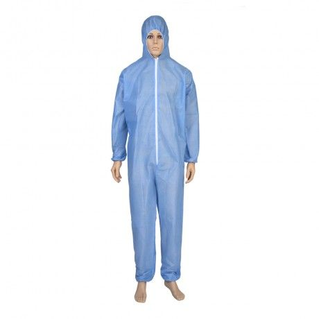 blue 10pcs SMS Gown Disposable Protective Gowns with Long sleeves Safty Work Gowns Clothing